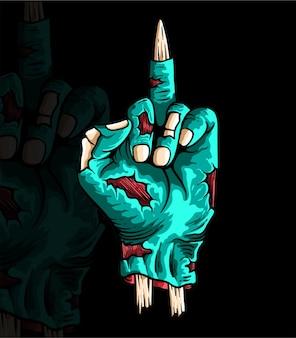 손으로 그린 할로윈 손 좀비 고립 된 장식