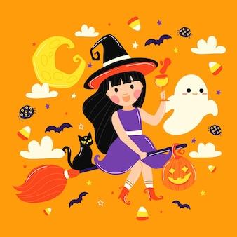 Ручной обращается хэллоуин фон