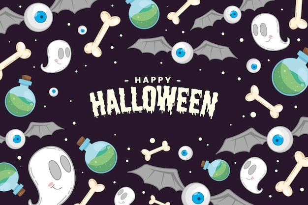 Hand drawn halloween background