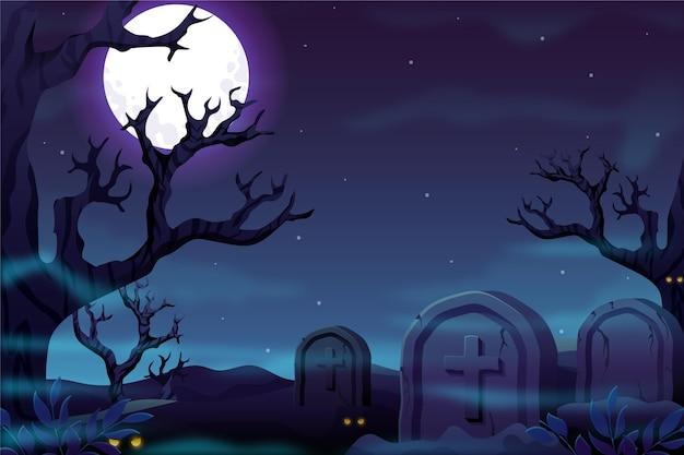 Hand drawn halloween background