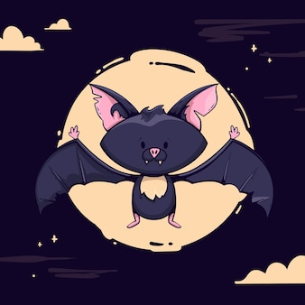 Ручной обращается хэллоуин летучая мышь