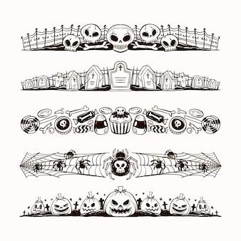 手描きのハロウィンボーダーコレクションのコンセプト