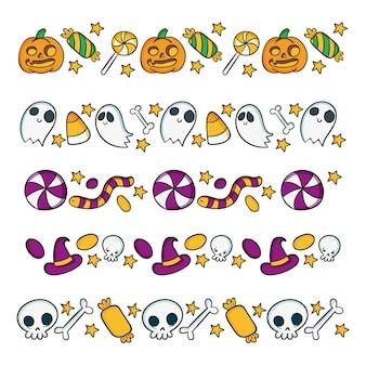 Accumulazione del bordo di halloween disegnata a mano