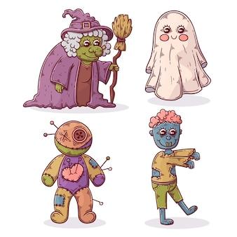 手描きハロウィンキャラクターコレクション