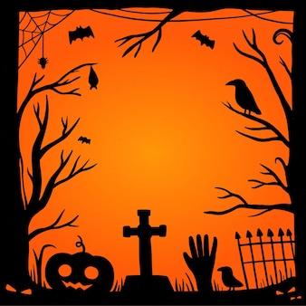 Hand drawn halloween frame