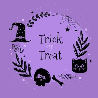Ручной обращается хэллоуин рамка