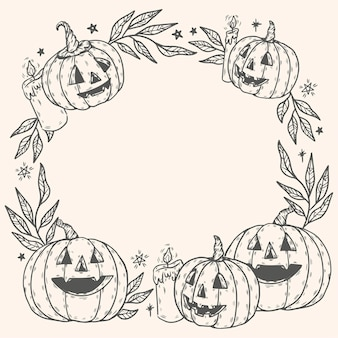 Ручной обращается кадр хэллоуин