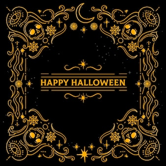 Рисованная рамка на хэллоуин