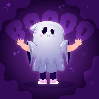 Illustrazione disegnata a mano del fantasma di halloween