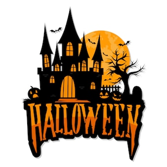 Hand drawn halloween greeting vector