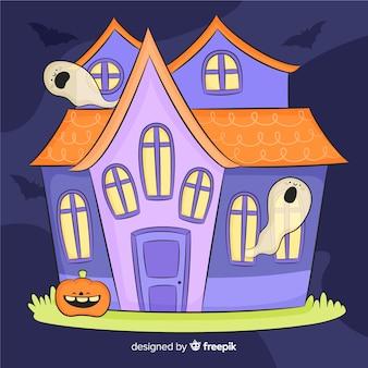 Ручной обращенный дом с привидениями на хэллоуин