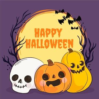 Hand drawn halloween illustration