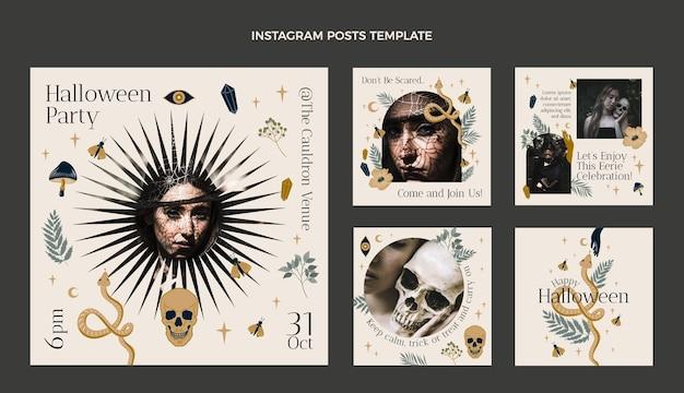 Коллекция рисованной хэллоуин instagram сообщений