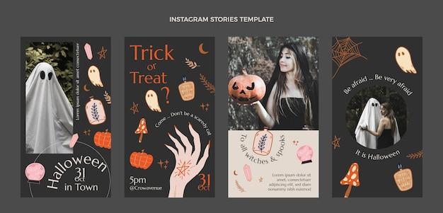 Hand drawn halloween instagram stories collection