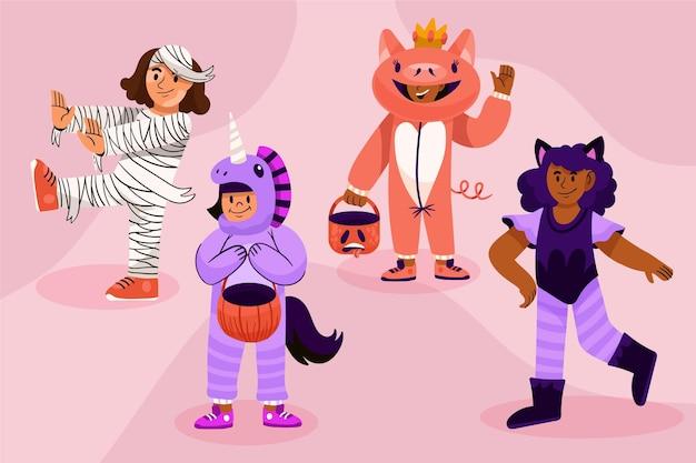 Коллекция рисованной хэллоуин детей