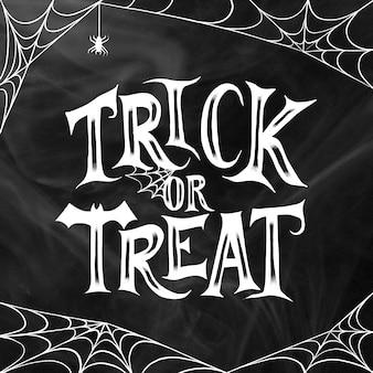 Ручной обращается хэллоуин надписи