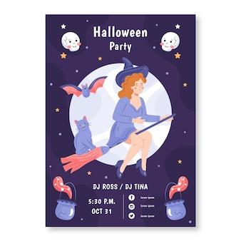 Manifesto disegnato a mano del partito di halloween illustrato