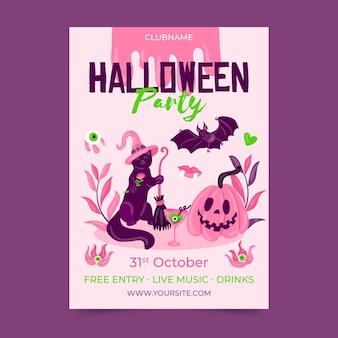 Manifesto del partito di halloween disegnato a mano