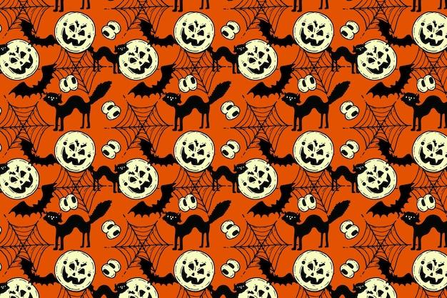 Hand drawn halloween pattern design