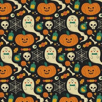 Ручной обращается дизайн хэллоуина