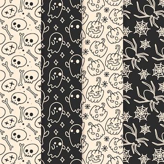 手描きのハロウィーンのパターン
