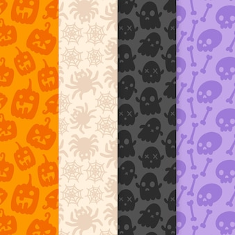 Hand drawn halloween patterns