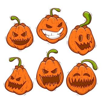 手描きハロウィンかぼちゃコレクション