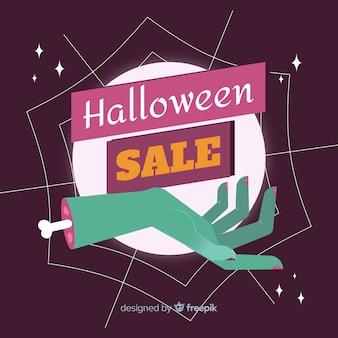 Hand drawn halloween sale background
