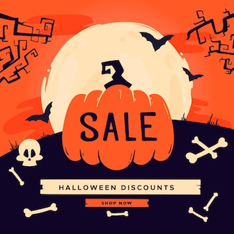 Hand drawn halloween sale