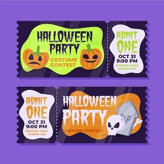 Biglietti di halloween disegnati a mano