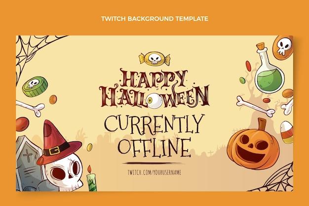 Hand drawn halloween twitch background
