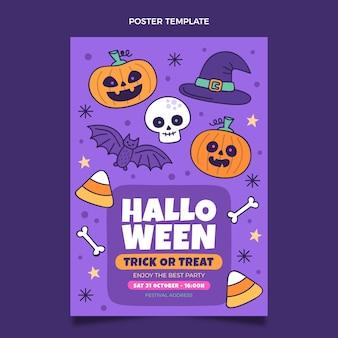 Ручной обращается хэллоуин вертикальный плакат шаблон