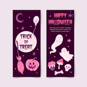 Banner di halloween disegnati a mano