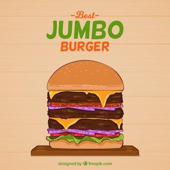 Hand drawn hamburger background