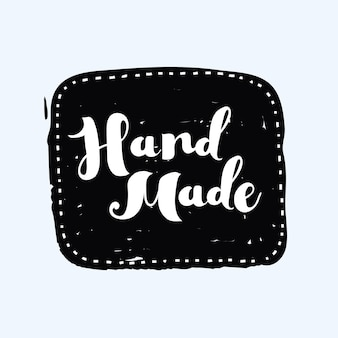 Hand drawn handcrafted handmade stamp and ink stain with durty texture shape
