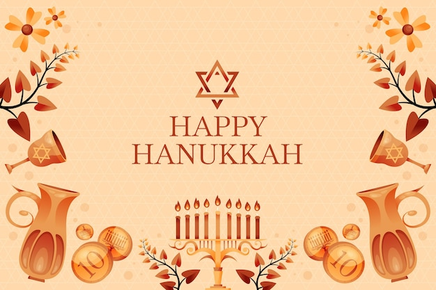 Sfondo di hanukkah disegnato a mano
