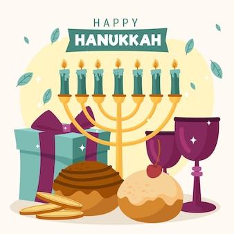 Hanukkah disegnato a mano