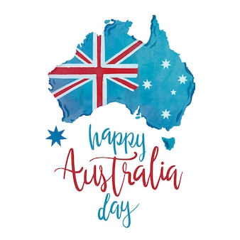 Hand drawn happy australia day