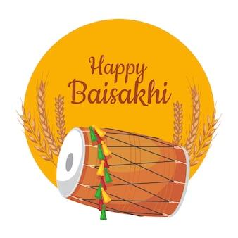 Hand-drawn happy baisakhi