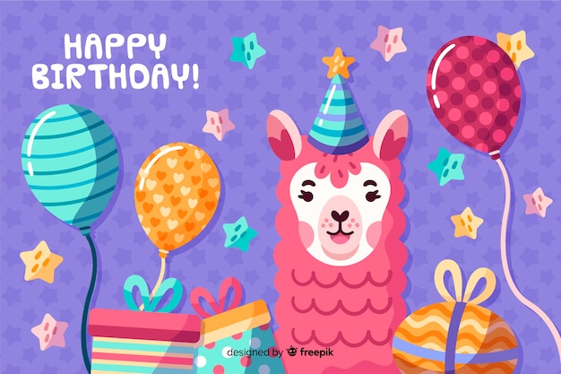 Hand drawn happy birthday background