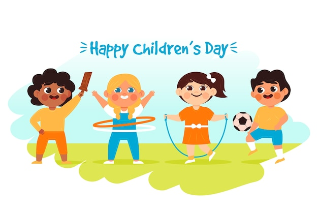 Hand drawn happy children's day