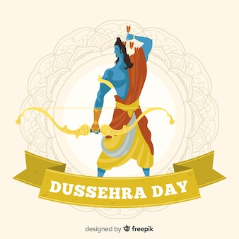 Hand drawn happy dussehra background