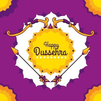 Hand drawn happy dussehra background