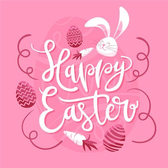 Hand drawn happy easter day