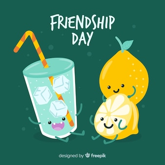 Hand drawn happy friendship day