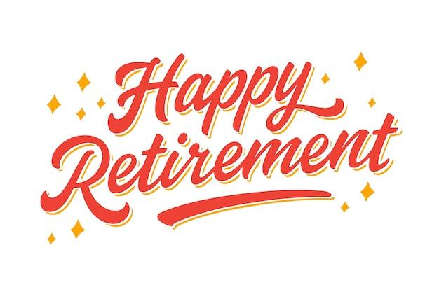 Ручной обращается счастливая пенсионная надпись