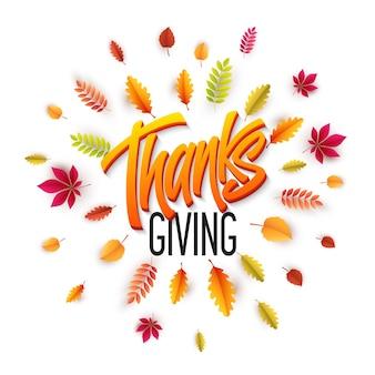 Carta di happy thanksgiving day disegnata a mano
