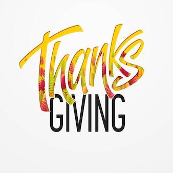 Biglietto happy thanksgiving day disegnato a mano