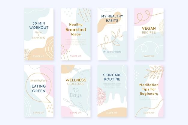 Коллекция историй о здоровье и фитнесе в instagram