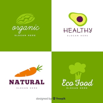 Hand drawn healthy food logo